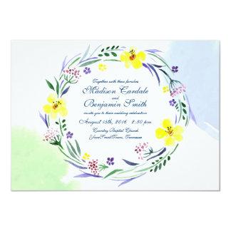 Aquarell-Frühlings-Garten-Hochzeits-Einladungen 11,4 X 15,9 Cm Einladungskarte