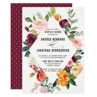 Aquarell-Herbst blüht Blumenpaar-Dusche Karte