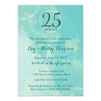 Aquarell-Hochzeitstag-Einladung 12,7 X 17,8 Cm Einladungskarte