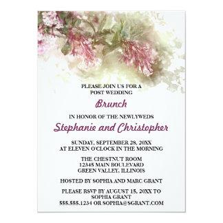 Aquarell-Jasmin bewirtete Posten-Hochzeits-Brunch 14 X 19,5 Cm Einladungskarte