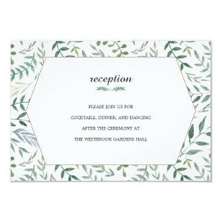 Aquarell-Laub-Grün-Hochzeit 8,9 X 12,7 Cm Einladungskarte