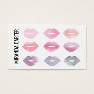 Aquarell-LippenVisitenkarte Visitenkarte