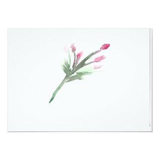 Aquarell mit Blumen Karte
