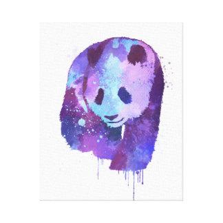 Aquarell-Panda-Bär Leinwanddruck