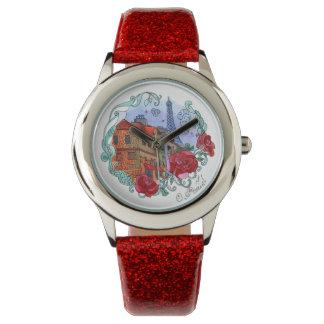 Aquarell Paris Armbanduhr