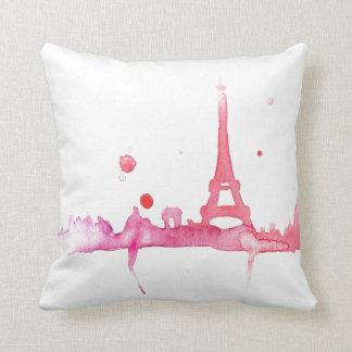 Aquarell-Paris-Kissen durch Megaflora Kissen