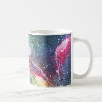 Aquarell-Raum-Nebelfleck-Galaxie Kaffeetasse