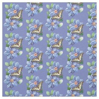 Aquarell-Schmetterlings-Muster-Gewebe Stoff