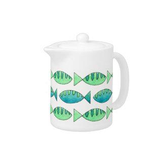 Aquarell-Schwimmen-Fische