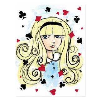 Aquarell-Skizze Alice Postkarte