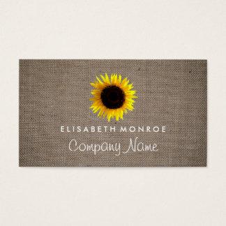 Aquarell-Sonnenblume und Leinwand Visitenkarten