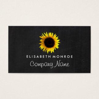 Aquarell-Sonnenblume und Tafel Visitenkarten