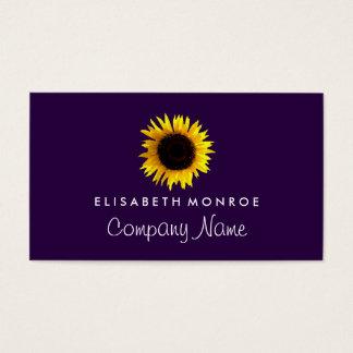 Aquarell-Sonnenblume Visitenkarten