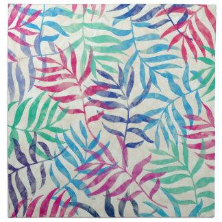 Aquarell-tropische Palmblätter II Stoffserviette