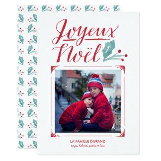 Aquarell u. Calligraphie | Joyeux Noël 12,7 X 17,8 Cm Einladungskarte