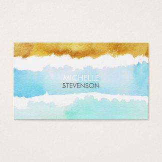 Aquarell-u. Farben-Innenarchitektur-Visitenkarten Visitenkarte