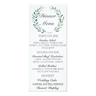 Aquarell verzweigt sich Hochzeits-Menü-Karte 10,2 X 23,5 Cm Einladungskarte