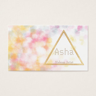 Aquarell-Visitenkarten mit Dreieck Visitenkarte