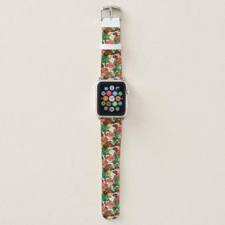 Aquarellpilze und grünes Farnmuster Apple Watch Armband