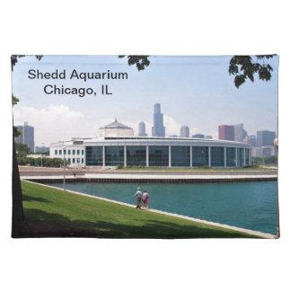 Aquariumsammlung Chicagos Shedd Stofftischset