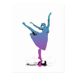 Arabeske-Tänzer-Tänze Postkarte