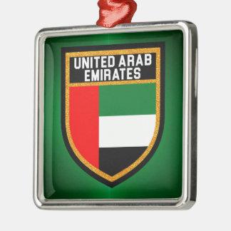 Arabische Emirate-Flagge Silbernes Ornament