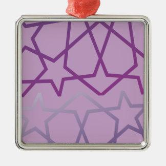 Arabische inspirierte abstrakte silbernes ornament