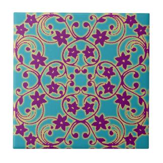Arabisches marokkanisches Muster Kleine Quadratische Fliese