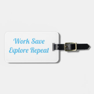 Arbeit retten erforschen gepäckanhänger