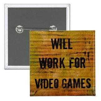 Arbeitet für Videospiel-Button Quadratischer Button 5,1 Cm