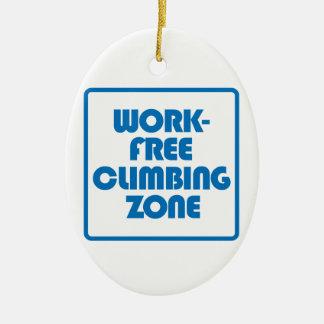 Arbeits-freie kletternde Zone Keramik Ornament