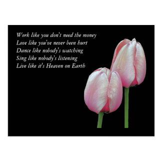 Arbeits-Liebe-Tanz singen Inspirational Postkarte