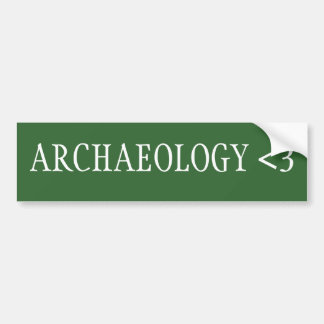 Archäologie <3 autoaufkleber