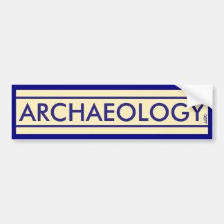 Archäologie-Abteilung Autoaufkleber