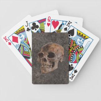 Archäologie II - Schädel auf Stein-Effekt Bicycle Spielkarten