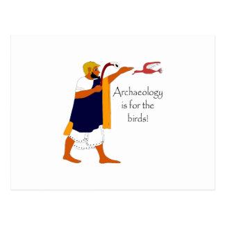Archäologie ist für die Vögel! Postkarte