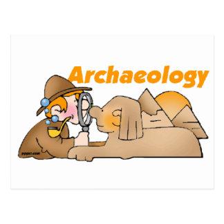 Archäologie Postkarte