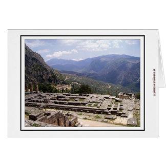 Archäologische Fundstätte Delphis Karte