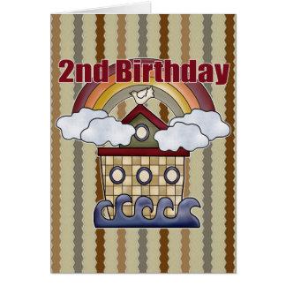 Arche-2. Geburtstags-Geschenke Karte