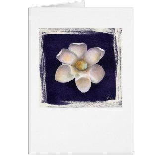 Arche-Muschel u. lila Blume Karte