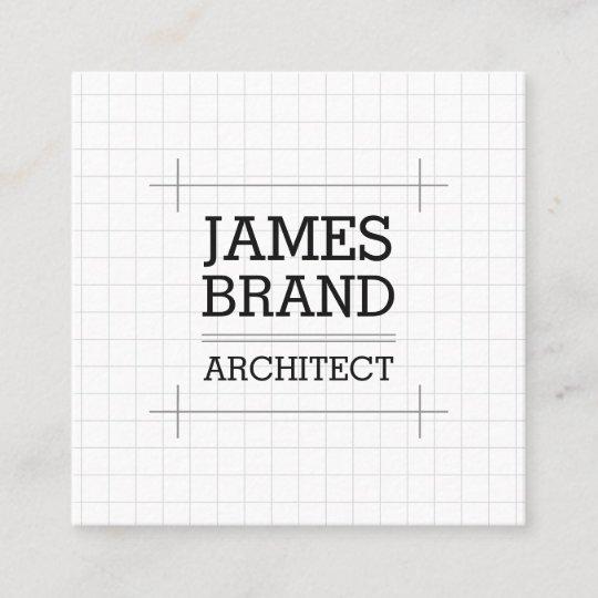 Architekten Erbauer Ingenieur Quadratische Visitenkarte
