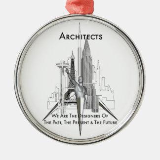 Architekten Rundes Silberfarbenes Ornament