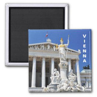 Architektur in Wien, Österreich Quadratischer Magnet