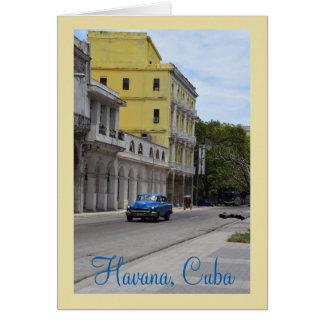 Architektur und amerikanische Autos von Kuba Karte