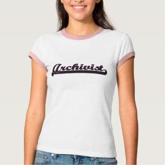 Archivar-klassischer Job-Entwurf T-Shirt