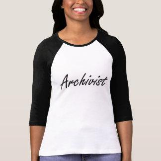 Archivar-künstlerischer Job-Entwurf T-Shirt