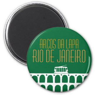 Arcos DA Lapa - Brasilien Runder Magnet 5,7 Cm