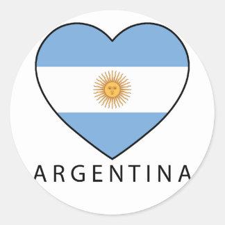 Argentina Heart Flag Soccer Runder Aufkleber