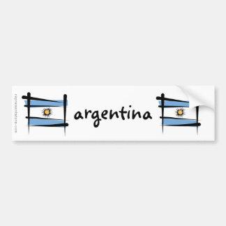 Argentinien-Bürsten-Flagge Autoaufkleber