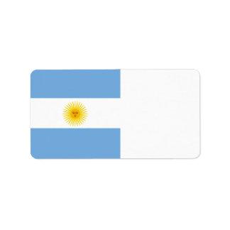 Argentinien-Flagge Adressaufkleber